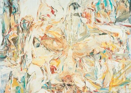 """Cecily Brown """"Eu não imagino a arte do passado como algo distante. Eu adoro a liberdade de ter todos esses artistas lado a lado na cabeça; você pode uma hora pensar no Jeff Koons e logo em seguida pensar em Giotto."""""""